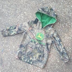 John Deere Mossy Oak Camo Pullover Hoodie 2T